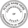 COMM-PA - Commissioner of Deeds - Pennsylvania<br>COMM-PA