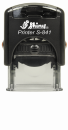 "S-841 Custom Self-Inking Rubber Stamp<BR>Impression Area: 3/8"" x 1"""