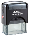 "S-843 Custom Self-Inking Rubber Stamp<BR>Impression Area: 3/4"" x 1-7/8"""