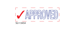 "SU-13454 - Two Color ""APPROVED"" <BR>Title Stamp"