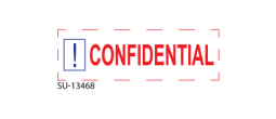 "SU-13468 - Two Color ""CONFIDENTIAL""<BR>Title Stamp"
