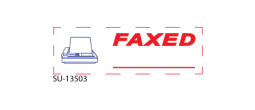 "SU-13503 - Two Color ""FAXED""<BR>Title Stamp"