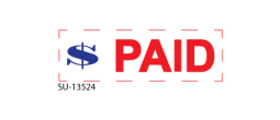 "SU-13524 - Two Color ""PAID""<BR>Title Stamp"