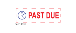 "SU-13531 - Two Color ""PAST DUE""<BR>Title Stamp"