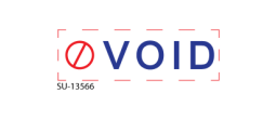"SU-13566 - Two Color ""VOID""<BR>Title Stamp"