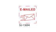 "SU-13694 - Small ""E-MAILED""<BR>Title Stamp"
